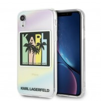 Чехол Karl Lagerfeld для iPhone XR TPU collection Kalifornia Dreams Hard Iridescent