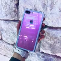 """Чехол """"Магнитный с закаленным стеклом"""" для iPhone 7/8 PLUS, серебро"""