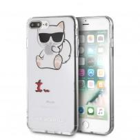 Чехол KARL LAGERFELD для iPhone 7/8 PLUS TPU collection Choupette Apple Hard Transp