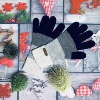 """Шерстянные перчатки iGloves """"Полосы"""", (женские)"""