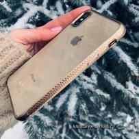 Чехол Uniq для iPhone X/XS Glacier Frost Xtreme Gold (IPXHYB-GLCFXGLD)