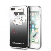 Чехол KARL LAGERFELD для iPhone 7/8 PLUS TPU collection Choupette Apple Hard Black
