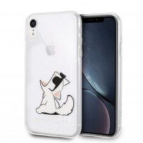 Чехол Karl Lagerfeld для iPhone XR TPU collection Choupette Sunglasses Hard Transp