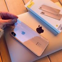 "Стекло защитное Baseus прозрачное для iPhone XS Max (6.5"") SGAPIPH65-ABM02 заднее"