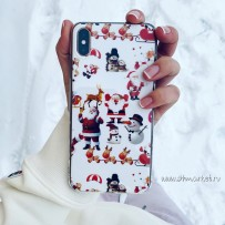 Чехол для iPhone XS/X «Дед мороз и все, все, все»