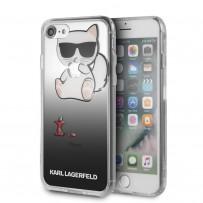 Чехол Karl Lagerfeld для iPhone 7/8 TPU collection Choupette Apple Hard Black
