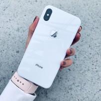 """Чехол стеклянный """"Закаленное стекло"""" для iPhone XS MAX, белый"""