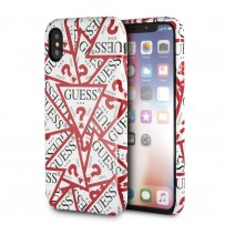 Чехол Guess для iPhone X/XS Triangle Logo collection All Over Hard White