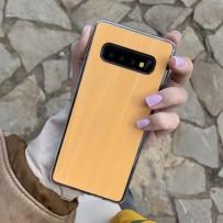 """Чехол """"Голограмма"""" для Samsung Galaxy S10+, оранжевый"""