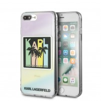 Чехол Karl Lagerfeld для iPhone 7/8 PLUS TPU collection Kalifornia Dreams Hard Iridescent