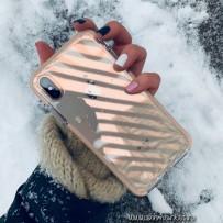 """Противоударный чехол """"Фруктовый лед"""" для iPhone XS Max, персиковый"""