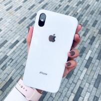 """Чехол стеклянный """"Закаленное стекло"""" для iPhone XS/ X, белый"""