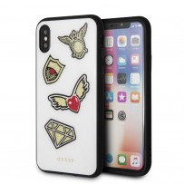 Чехол Guess для iPhone X/XS Iconic Acrylic Hard White
