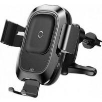 Автомобильное беспроводное Qi зарядное устройство  Smart Vehicle Bracket Wireless Charger (5V/2A, 9V/1.7A) Черный