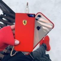 Аккумулятор внешний универсальный Ferrari 10000 mAh, LED-индикатор, 2 USB Rubber Red (2USB: 5V-2.4A), красный