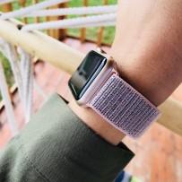Ремешок COTEetCI W17 Magic Tape Band (WH5226-PK-42) для Apple Watch 44мм/ 42мм Pink - Розовый