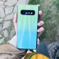 """Чехол """"Голограмма"""" для Samsung Galaxy S10, мятный"""