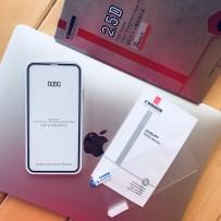 Стекло защитное 2,5D для iPhone XS/ X, полноэкранное + пленка на заднюю панель