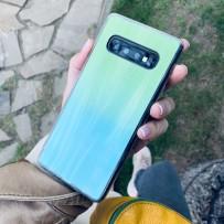 """Чехол """"Голограмма"""" для Samsung Galaxy S10+, мятный"""