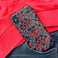Чехол Guess для iPhone XS/ X Triangle Logo collection All Over Hard Black