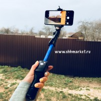 Монопод для селфи Yunteng Self Picture Monopod (Bluetooth) Blue YT-1288, со сьемным фотопультом, 425-1250mm