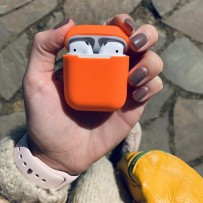 Чехол силиконовый Deppa для AirPods D-47002 1.4мм Оранжевый