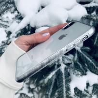 Чехол Uniq для iPhone X/XS Glacier Frost Xtreme Silver (IPXHYB-GLCFXSIL)