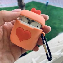 "Чехол SoftTouch ""Sweet heart"" для AirPods, с карабином, 3D"