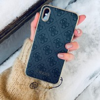 Чехол Guess для iPhone XS/ X 4G Charms collection Hard Grey