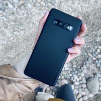 Чехол ультратонкий Memumi, 0,3мм для Samsung Galaxy S10 Plus, черный матовый
