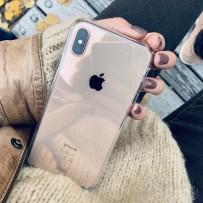 Противоударный чехол-лёд для iPhone XS Max, кристально-прозрачный