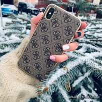 Чехол Guess для iPhone XS Max 4G Charms collection Hard Brown