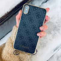 Чехол Guess для iPhone XS Max 4G Charms collection Hard Grey
