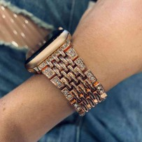 Ремешок из нержавеющей стали, для Apple Watch 44мм/ 42мм, розовое золото