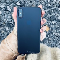 Чехол Uniq для iPhone XS Max, ультратонкий, чёрный матовый