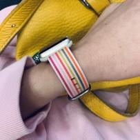Ремешок COTEetCI W30 Nylon Rainbow Band (WH5250-WP-38) для Apple Watch 40мм/ 38мм Бело-Розовый