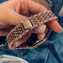 Ремешок из нержавеющей стали, для Apple Watch 40мм/ 38мм, розовое золото