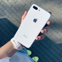 """Чехол стеклянный """"Закаленное стекло"""" для iPhone 7/8 PLUS, белый"""