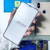 """Стекло защитное """"BLUEO"""" 3D для iPhone XS MAX, матовое (не оставляет отпечатки пальцев)"""