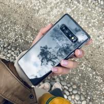 Чехол ультратонкий силиконовый для Samsung GALAXY S10 Plus тонкий 0.6 мм, кристально-прозрачный