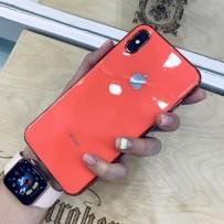"""Чехол """"Закаленное стекло"""" для iPhone XS/ X, коралловый"""