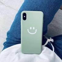 "Чехол ""Smile"" для iPhone XS/ X, бархатистый"