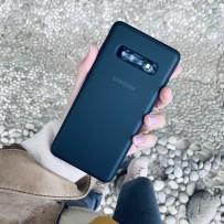 """Противоударный чехол """"Фруктовый лед"""" для Samsung Galaxy S10 Plus, черный матовый"""