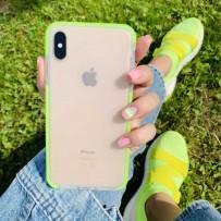 """Противоударный чехол """"Фруктовый лед"""" для iPhone XS MAX, матовый неон"""
