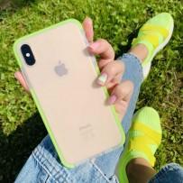 """Чехол """"Фруктовый лед"""" для iPhone XS/ X, матовый неон"""