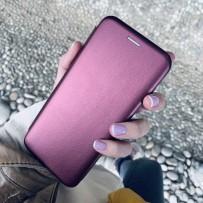 Чехол-книжка кожаный Innovation Case для Samsung Galaxy S10 Бордовый