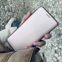 Чехол-книжка кожаный Innovation Case для Samsung Galaxy S10 Розовое золото
