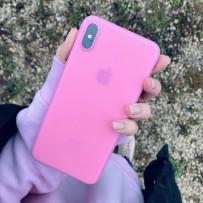 Чехол ультратонкий Memumi, 0,3мм для iPhone XS Max, розовый матовый