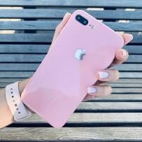 """Чехол стеклянный """"Закаленное стекло"""" для iPhone 7/8 PLUS, розовый"""