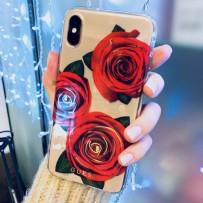 "Чехол Guess ""Красная роза"" для iPhone XS/ X"
